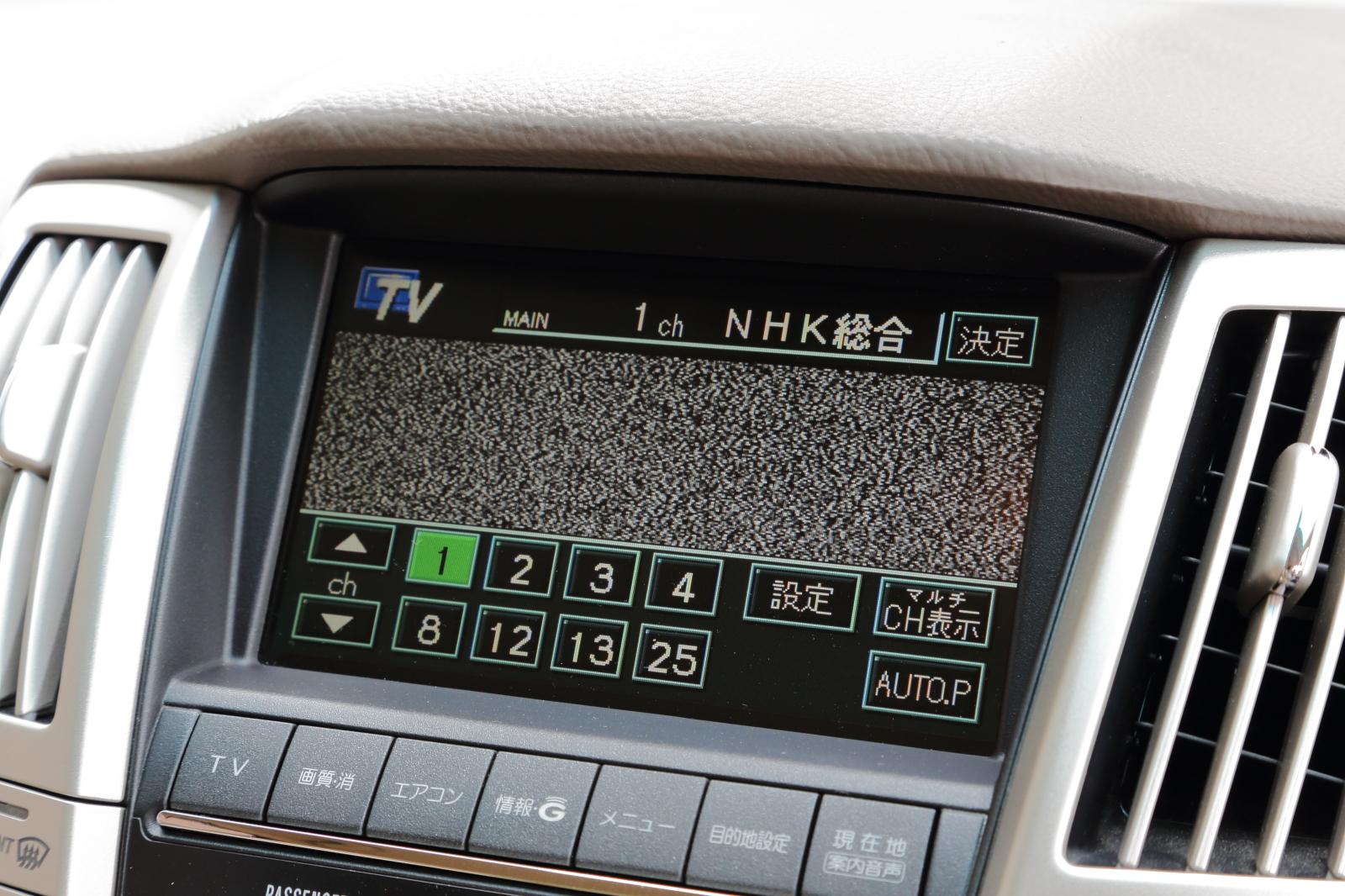 VTRアダプター取り付け前のTV画面
